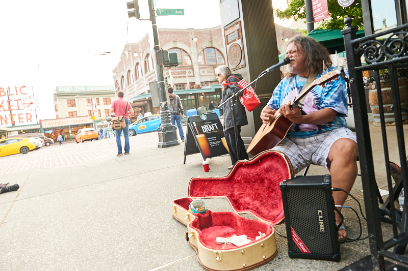 Streetmusicians in Seattle
